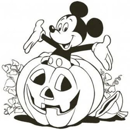 Learning Through Mickey Mouse Coloring Pages
