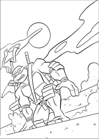 mikey-ninja-turtle-coloring-pages
