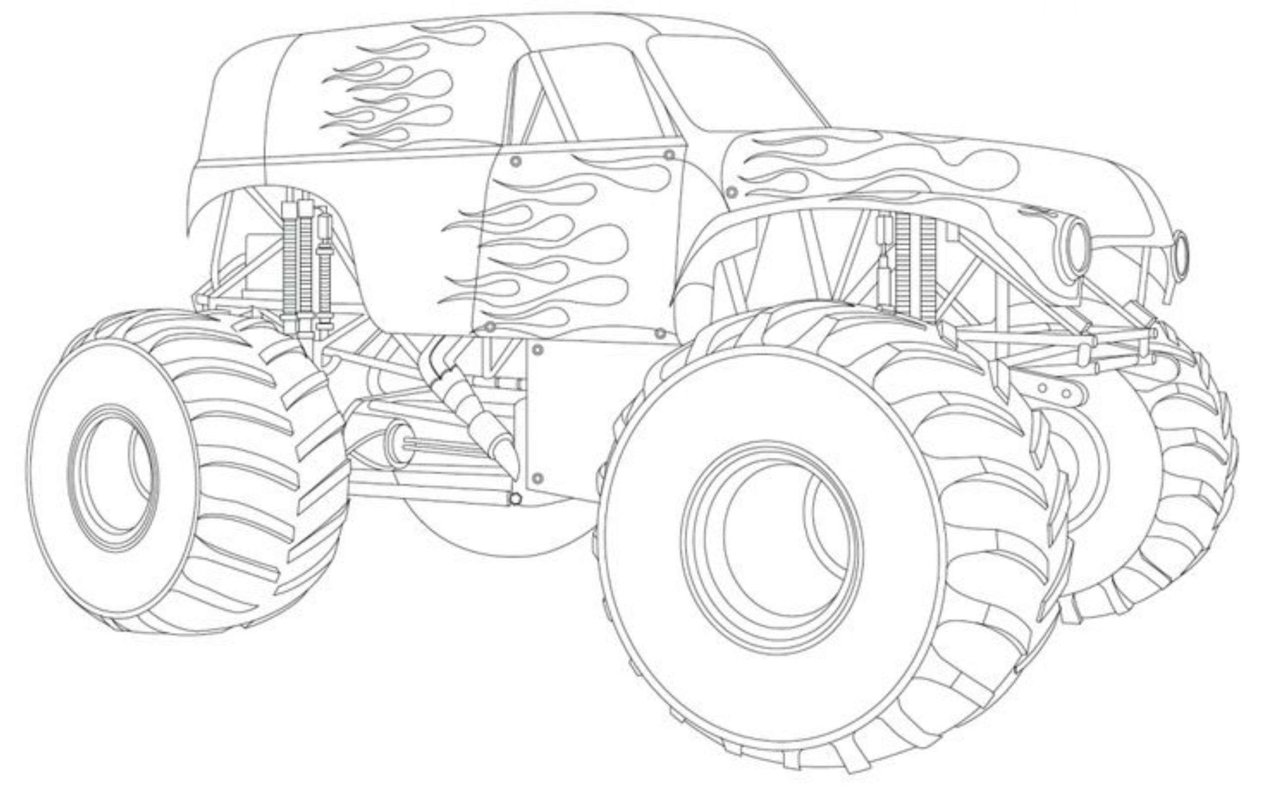 Drawing Monster Truck Coloring Pages With Kids