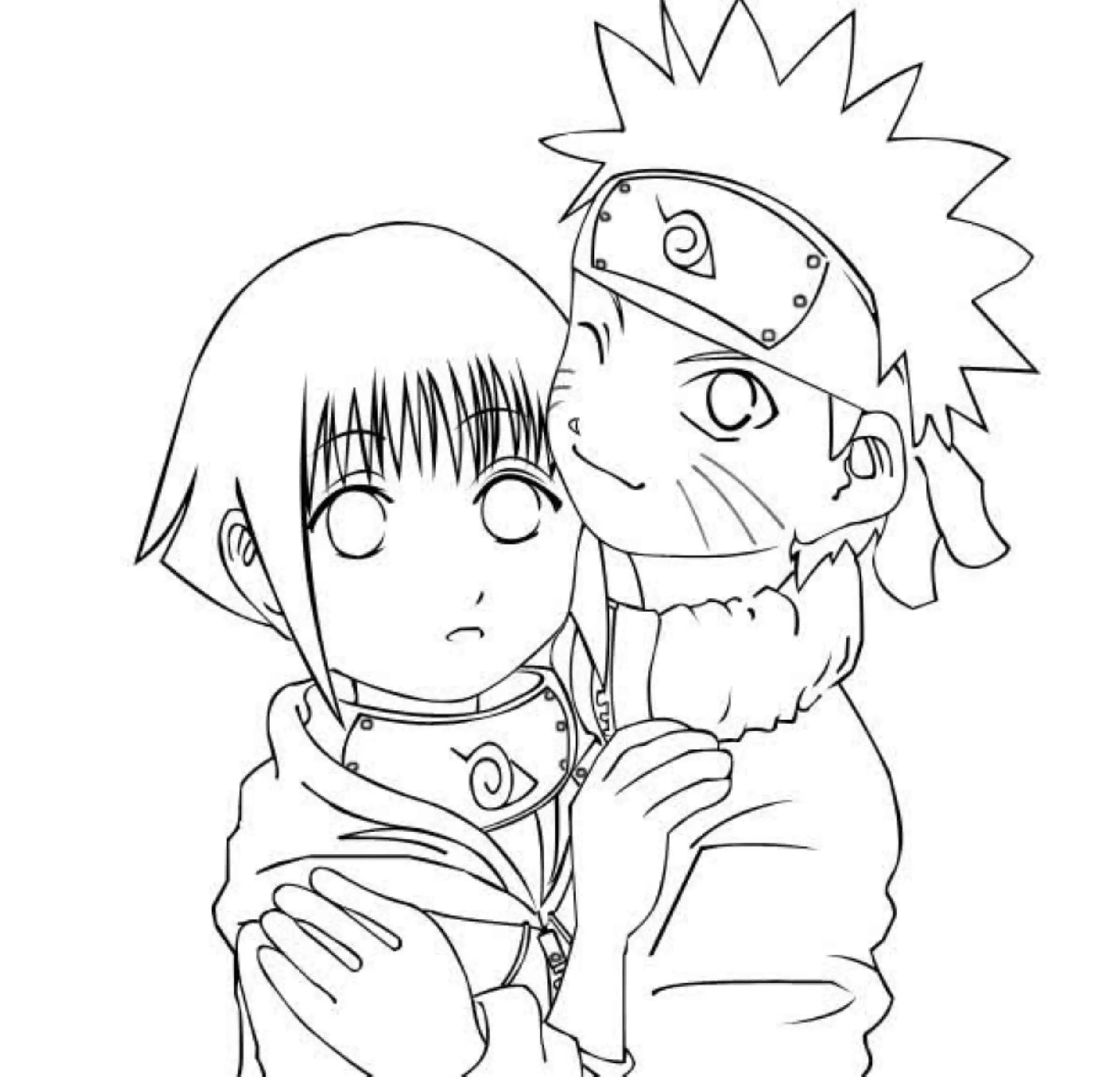 Naruto And Hinata Coloring Pages