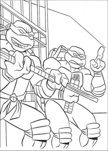 zombie ninja turtle coloring pages - photo#33