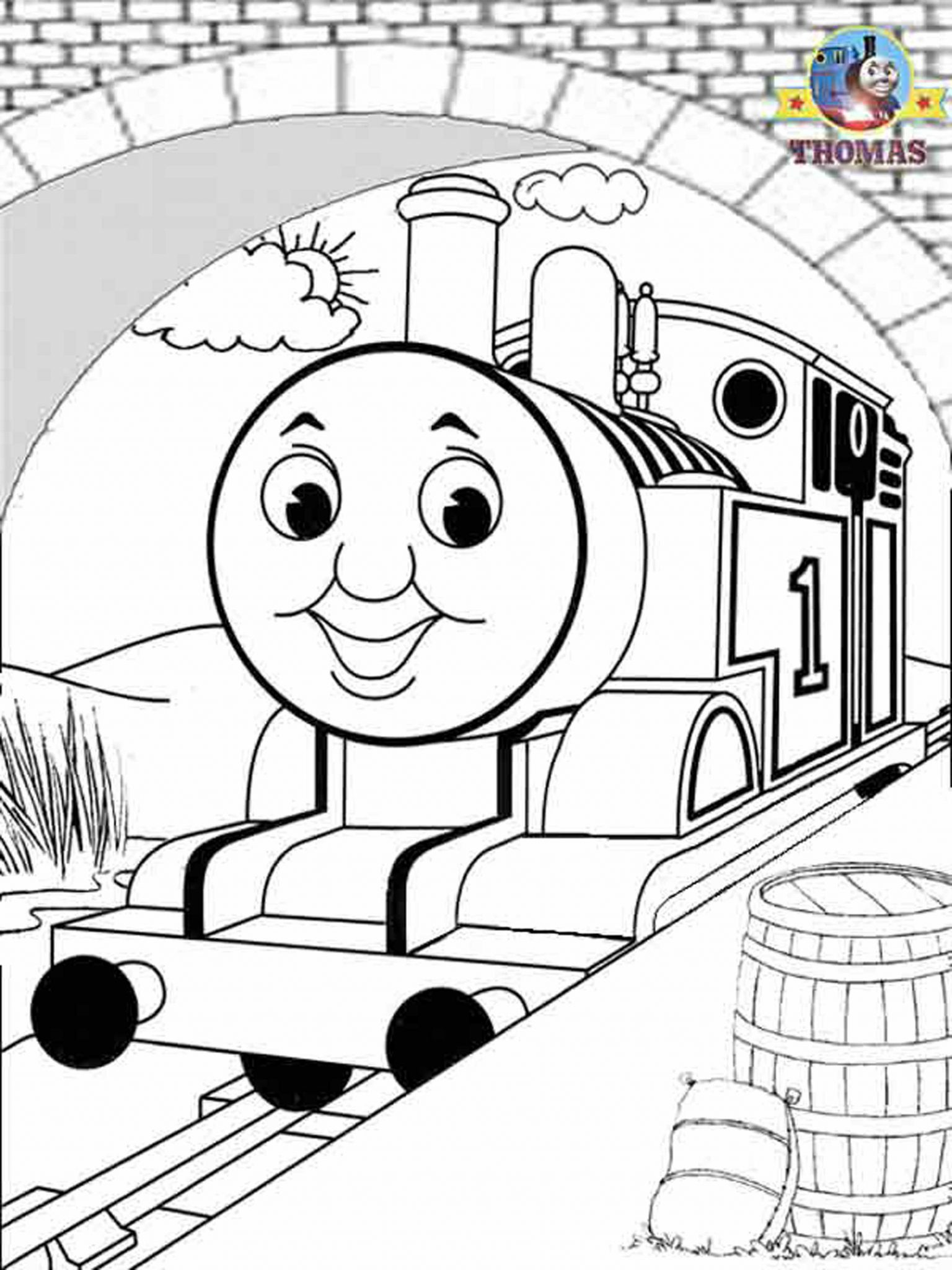 Online Coloring Pages For Boys Thomas The Train