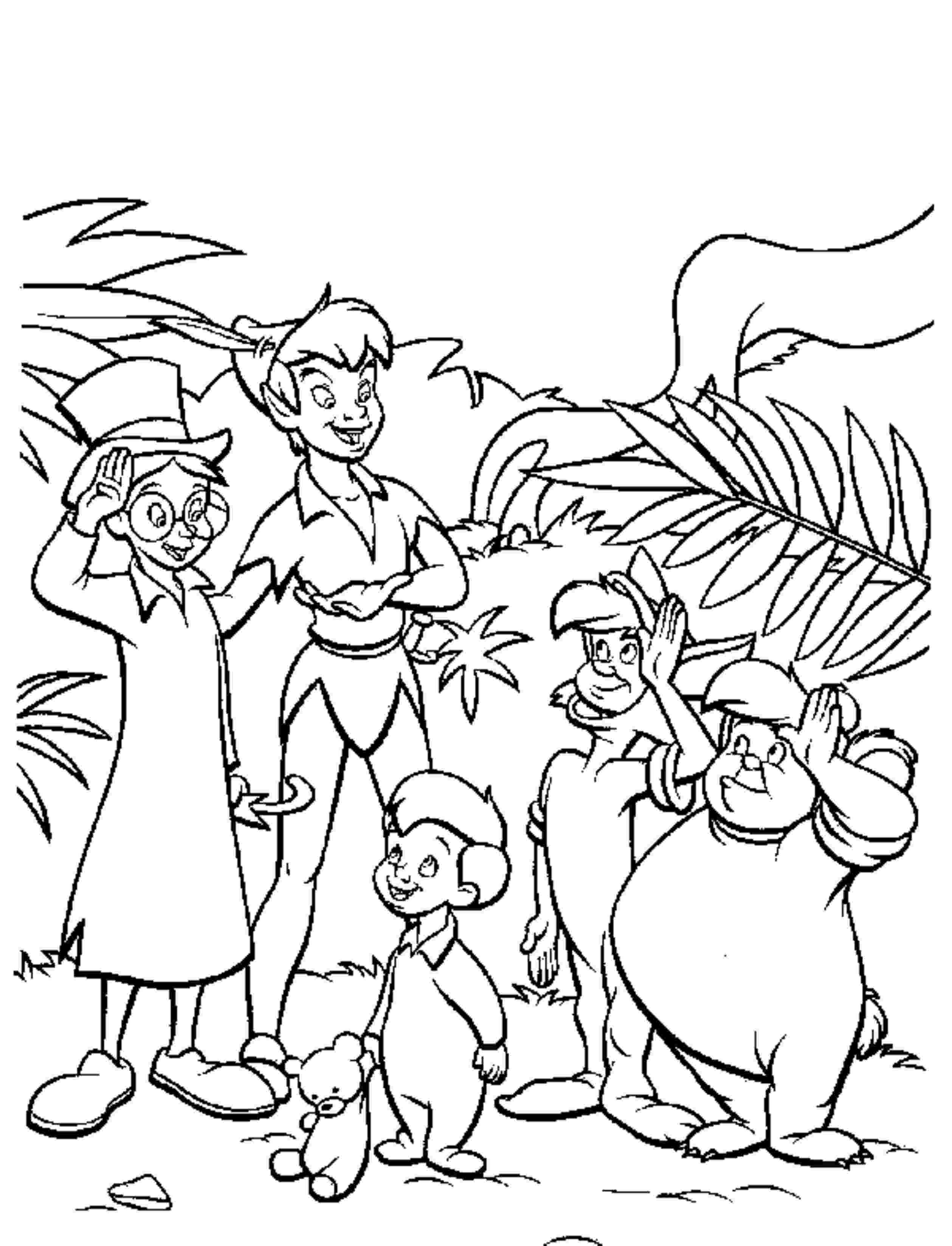 Gallery Of Fun Peter Pan Coloring Pages Downloaded For Free