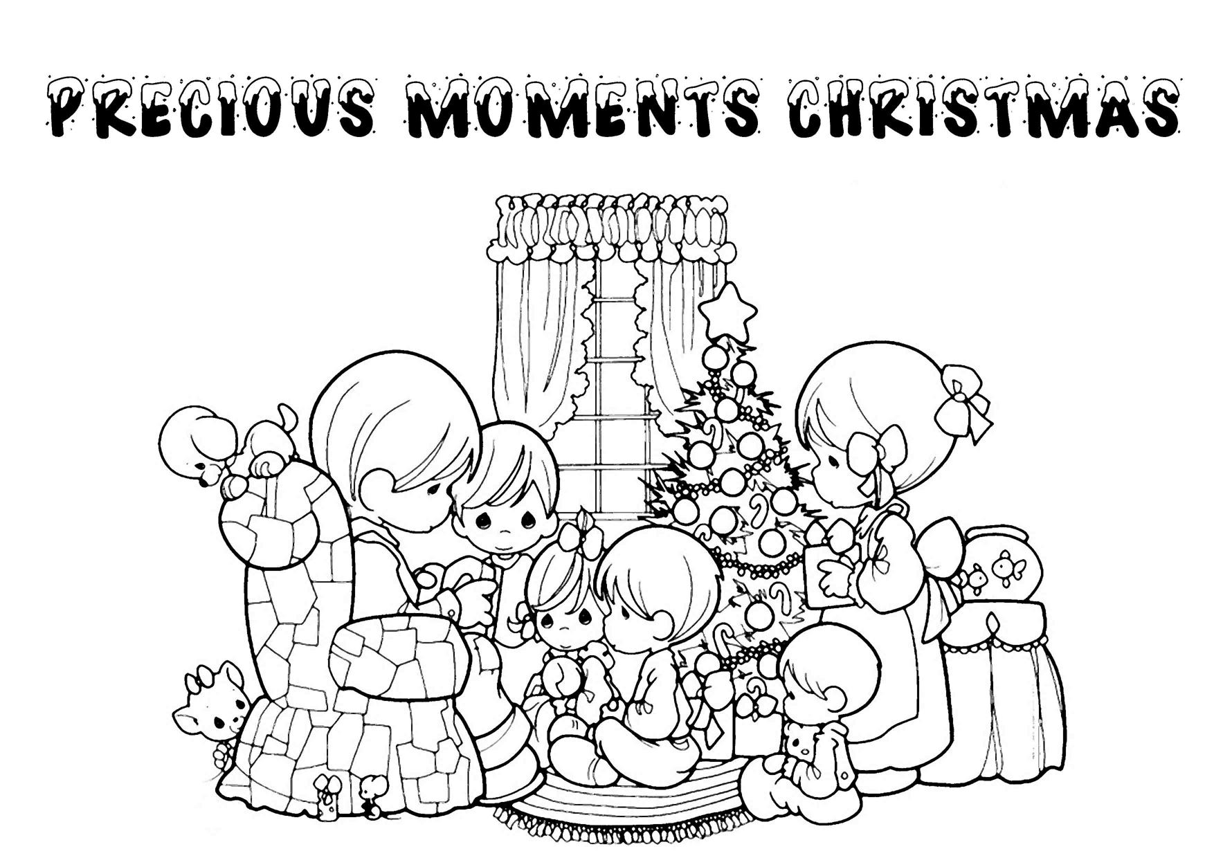 Precious Moments Christmas Coloring Pages Printable