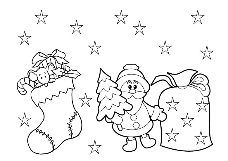 print & download - printable christmas coloring pages for kids