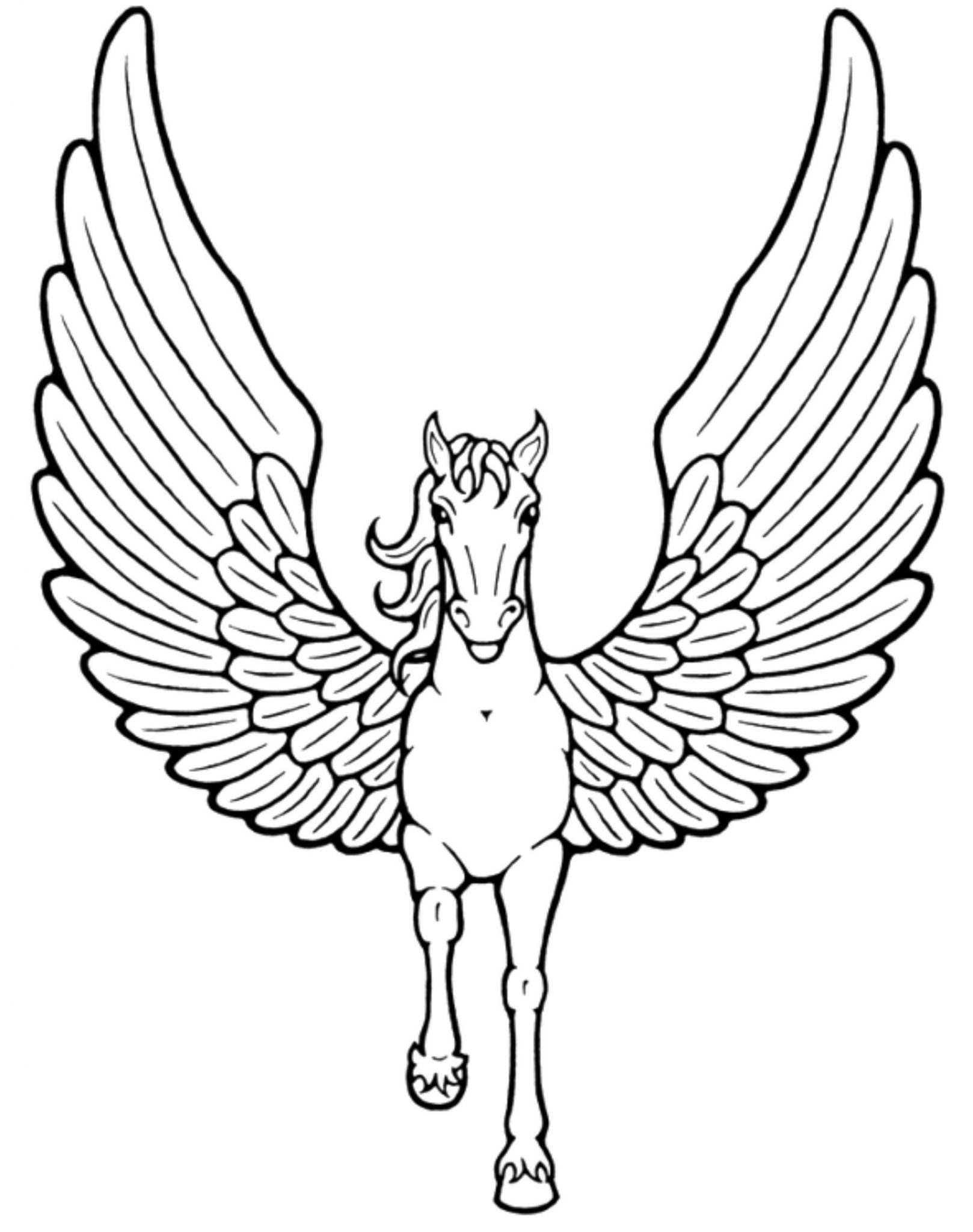 Preschool Unicorn Coloring Pages