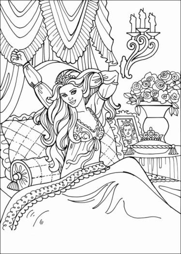 princess-color-page
