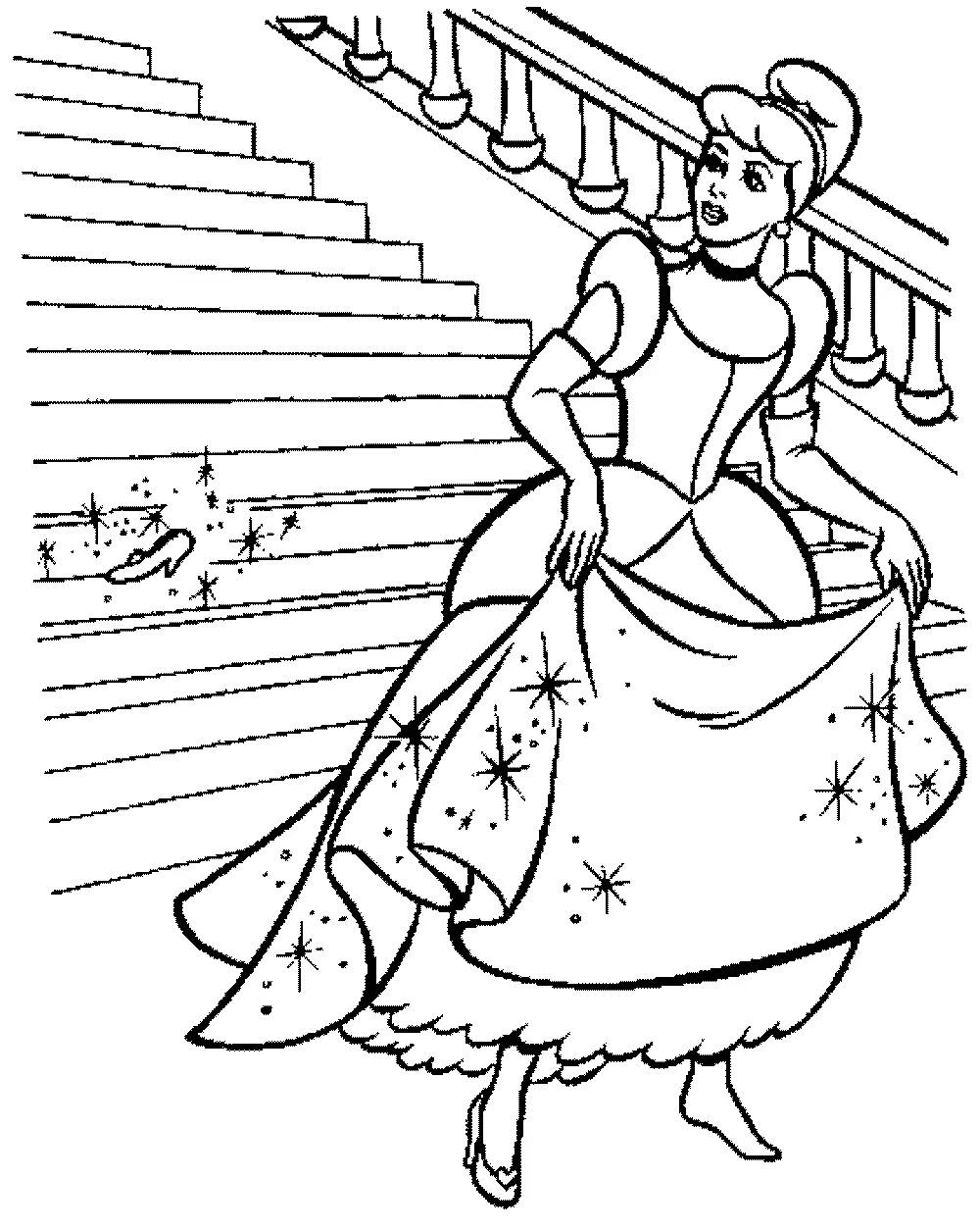 Print & Download - Impressive Cinderella Coloring Pages for Little Girls