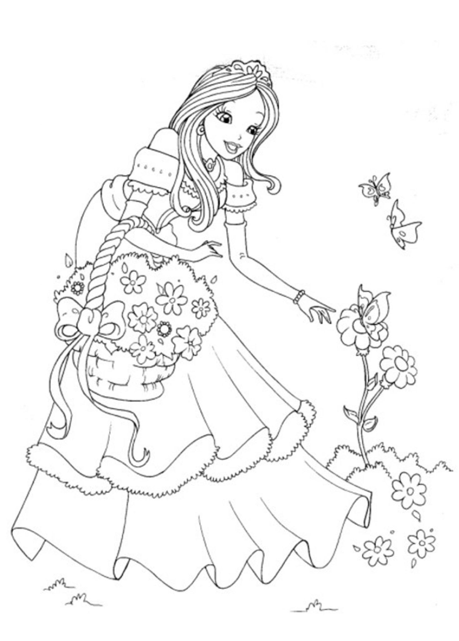 coloring pages of princesses Print & Download   Princess Coloring Pages, Support The Child's  coloring pages of princesses