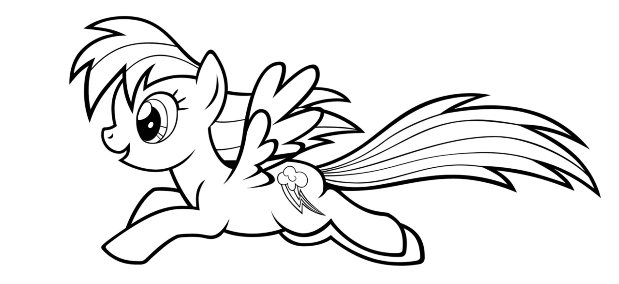 Rainbow Dash Pictures To Print Print Download Colorful Rainbow Dash Coloring Pages to