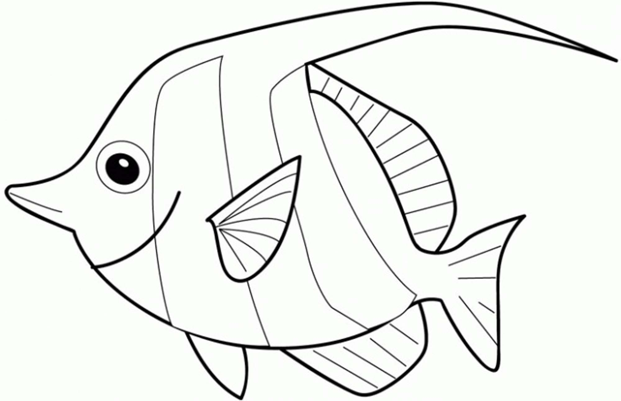 Rainbow Fish Coloring Page Bestappsforkids