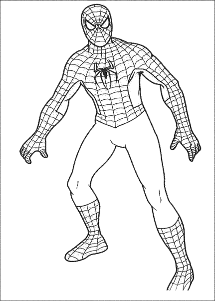 simple-spiderman-coloring-pages