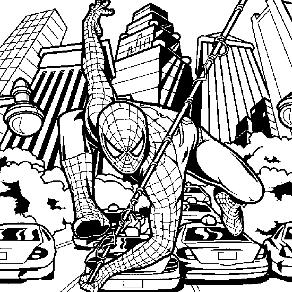 Gallery Of Spiderman Coloring Pages An Enjoyable Way To Learn Color