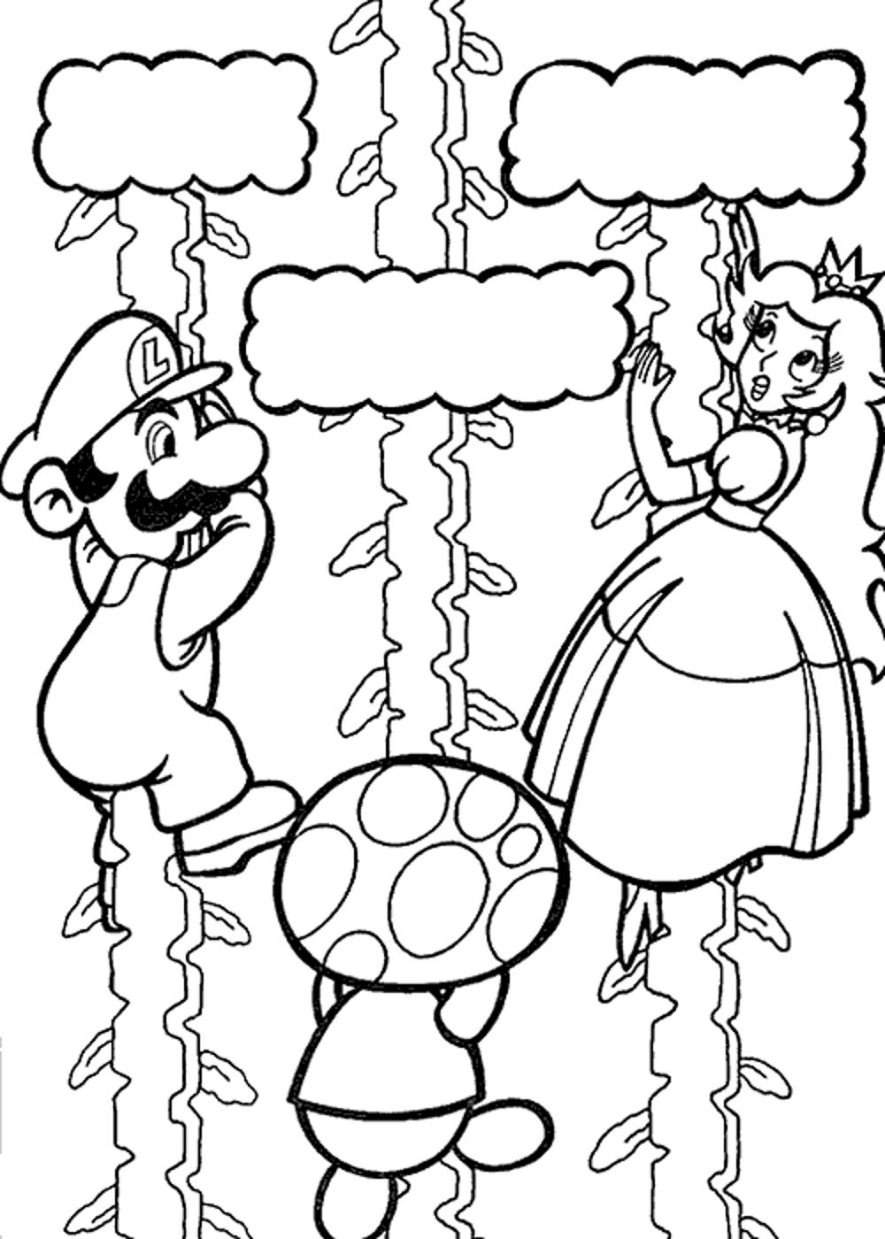 Super Mario Galaxy Coloring Pages Bestappsforkids