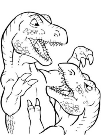 t-rex-fight-coloring-pages-free