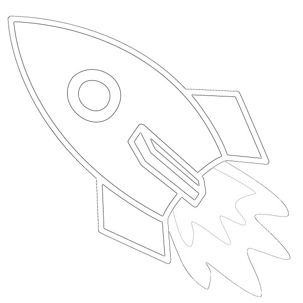 rocket ship coloring pages # 80