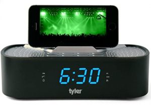 Tyler TAC501-BK iPhone Dock Alarm Clock