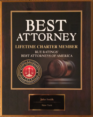 Best Attorney Plaque