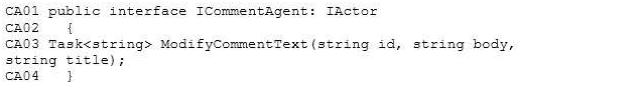 ICommentAgent.cs: