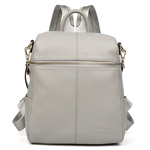 BOSTANTEN Women Leather Backpack Casual College Daypack