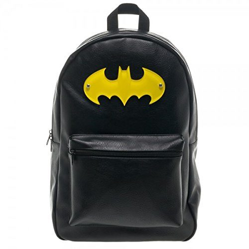 Batman Yellow Symbol Black Backpack