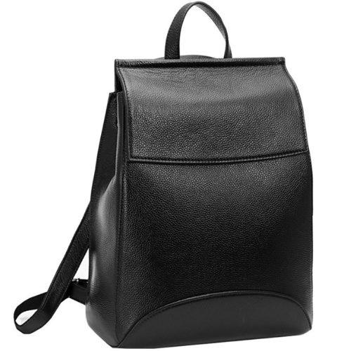 Heshe womens leather backpack