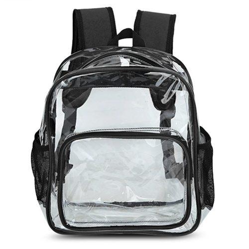 Zicac Girls Cute Transparent Clear PVC Backpack
