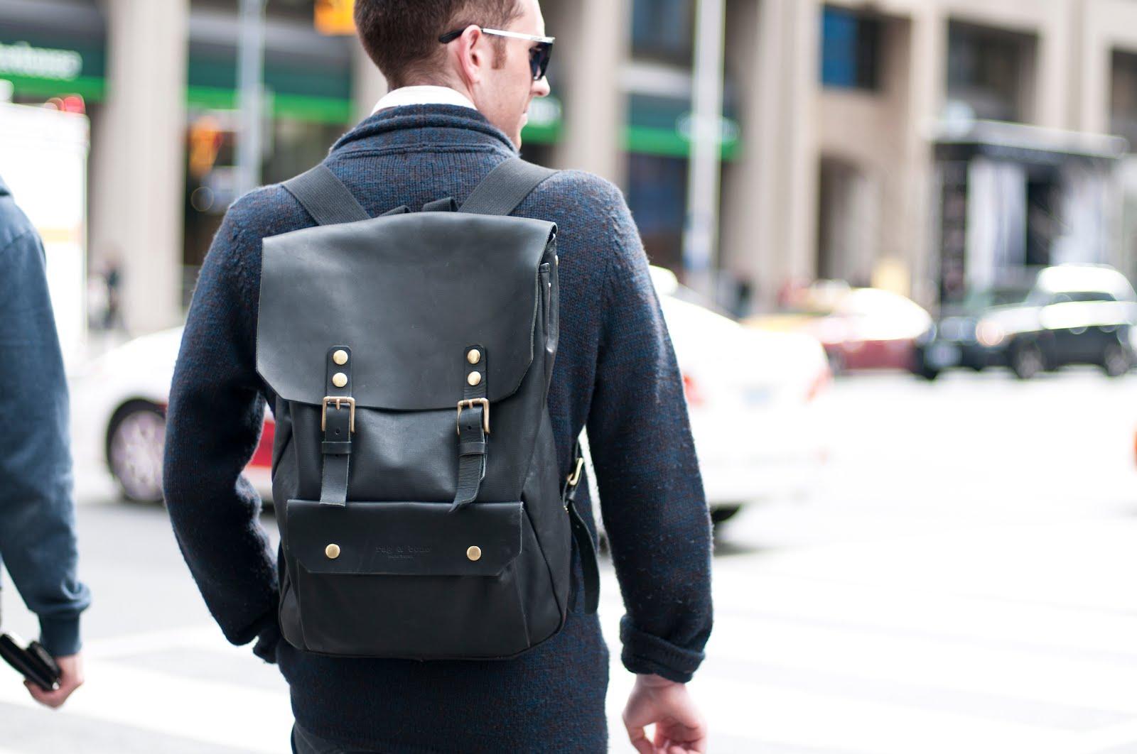 best black leather backpacks
