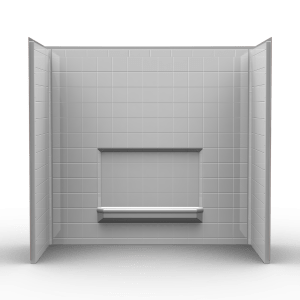 remodeler tub shower walls three piece 60x32 wall surround w 4 inch tile look