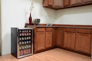 A beer refrigerator can really lift a rooms appearance