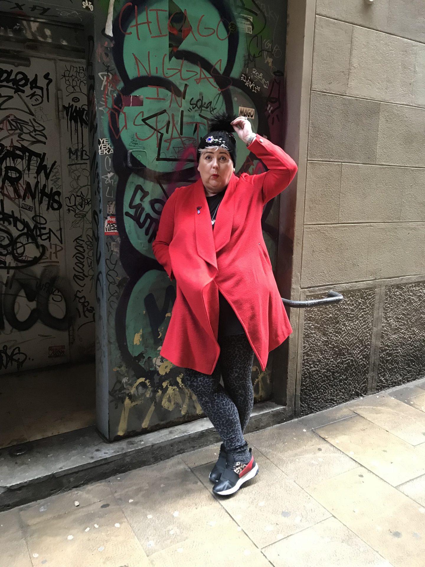 Me _Wearing _My _Red _Wallis _Coat