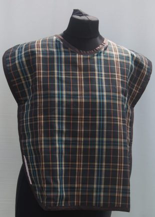 Brown Tartan Effect Handmade Everyday Bib