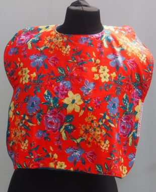 Orange Floral Handmade Everyday Bib