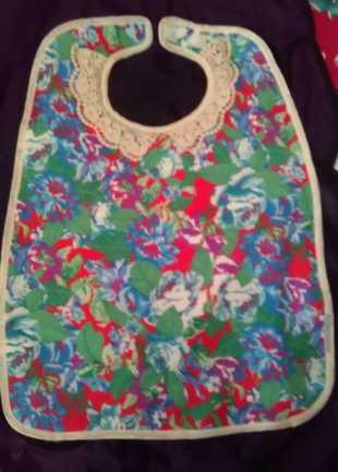 Floral Multicolour Deluxe Bib
