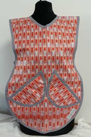 Childrens Orange and Silver Tabard