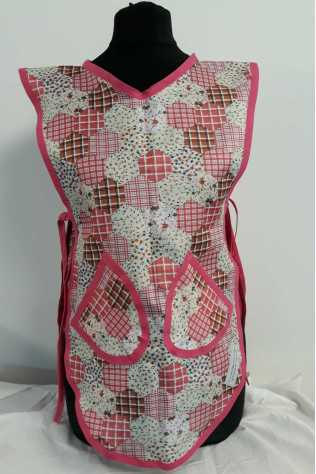 Childrens Pink Patchwork Tabard