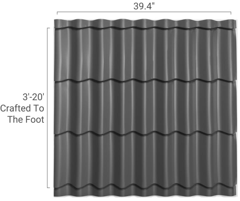 stile spanish tile metal tile roof