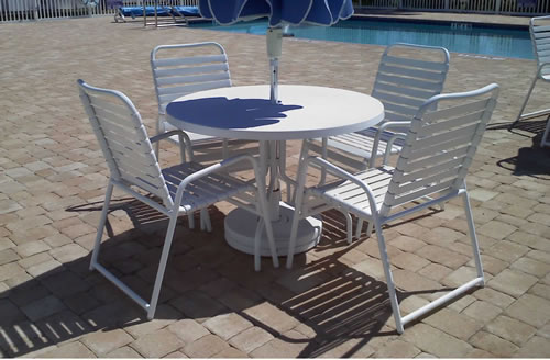 strap patio chairs outdoor dining