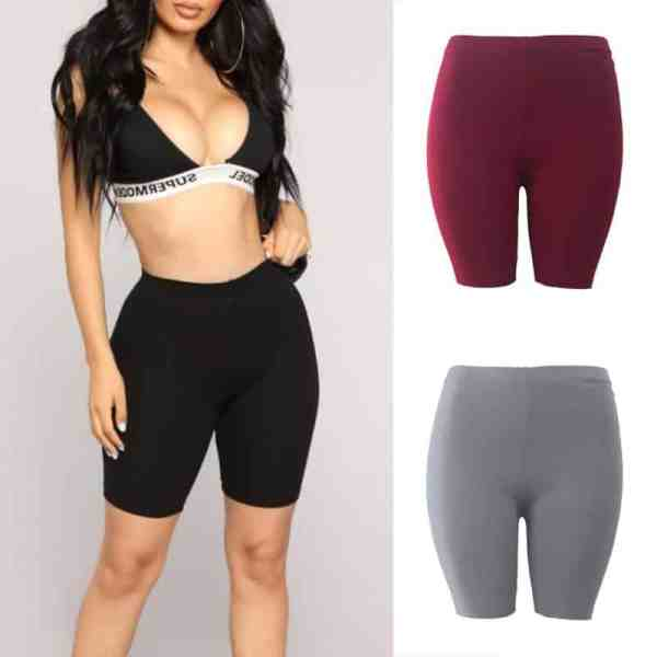 Fashion New Lady Women's Casual Fitness Half High Waist Quick Dry Skinny Bike Shorts 1