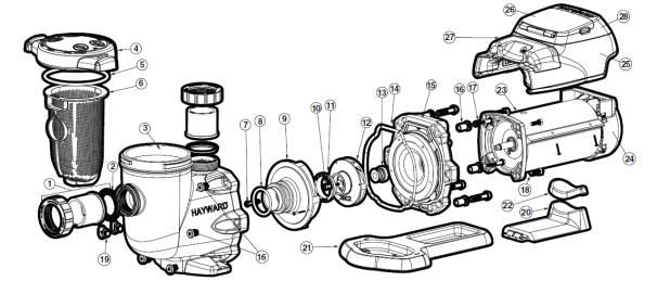 Haywardecostardiagram on Century Pool Pump Motor Wiring Diagrams
