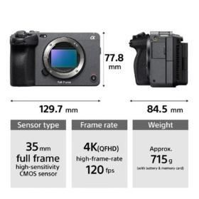 Immagini del prodotto Sony FX3: 12MP, 4K120p, No ND
