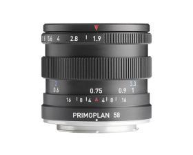 Obiettivo Primoplan 58mm F1.9 II per Canon EF, Nikon F, MFT, Pentax K, Sony E, Fuji X, Leica M e L