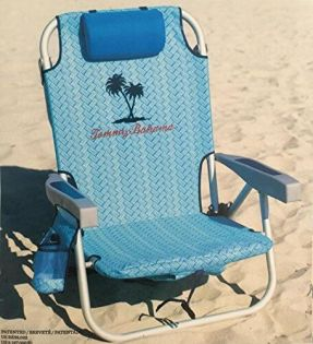 Tommy Bahama Backpack Beach Chair Light Blue