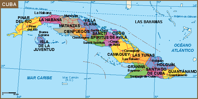 Cuba mapa   Vector maps