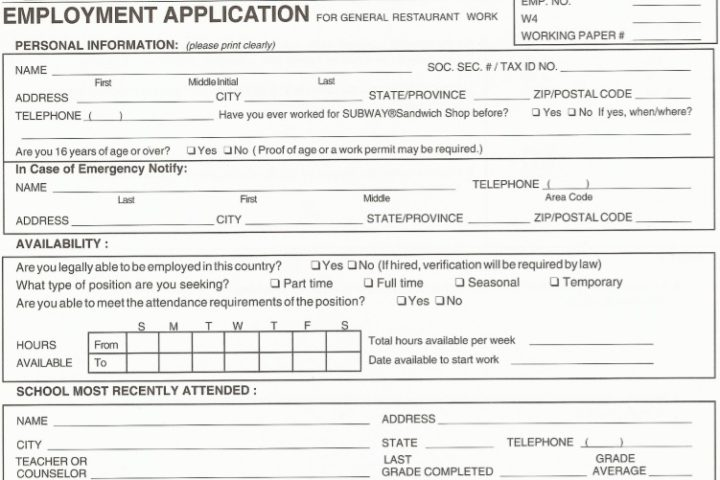 Free envelope templates and guide to what size of envelope you need for what you're mailing. Employment Application Templates 10 Basic Forms Free Download