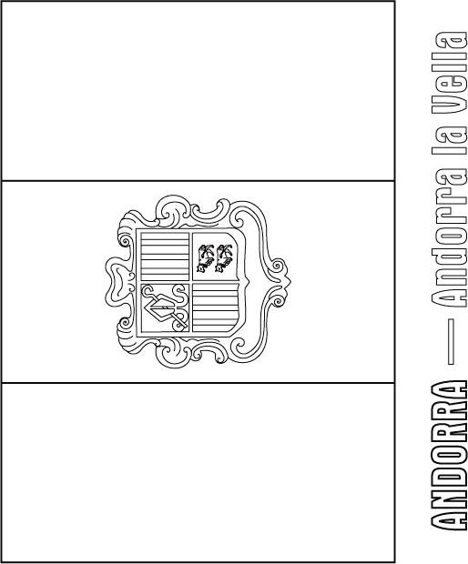 andorra flag coloring page  download free andorra flag