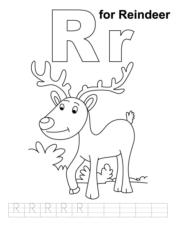 Worksheets R Reindeer Printable