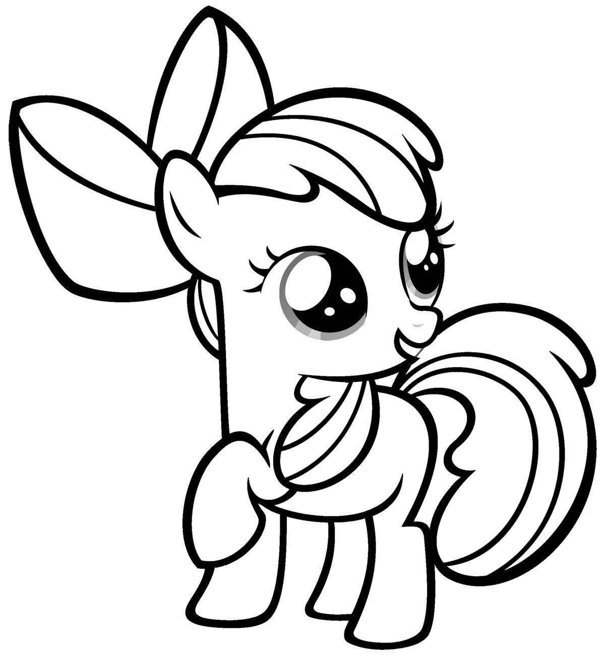 Coloring Pages My Little Pony Online Coloring Page