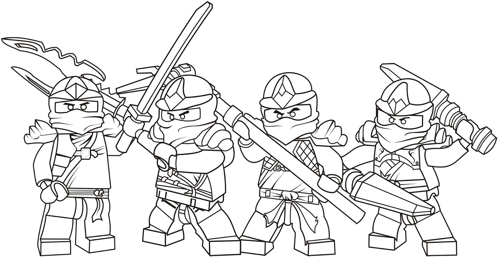 Ninjago Ninjas Coloring Pictures Coloring Pages