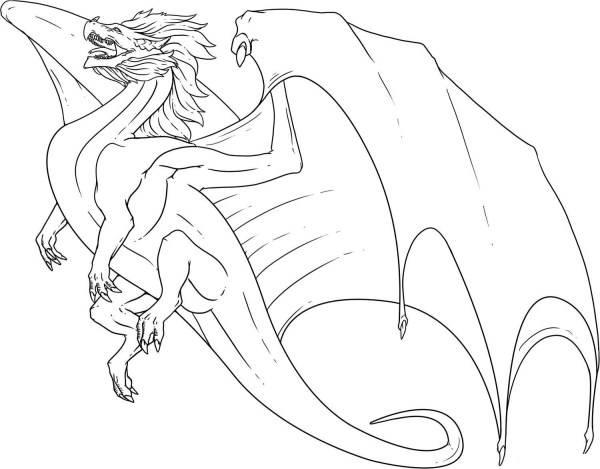free dragon coloring pages # 7
